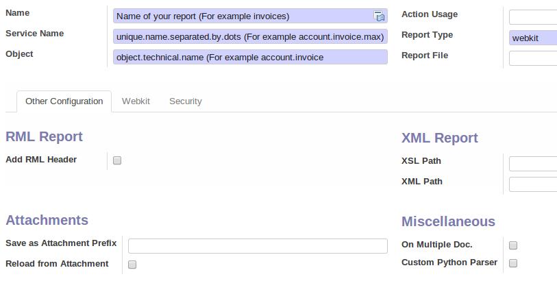 Create an OpenERP Webkit Report from Scratch   Cocept