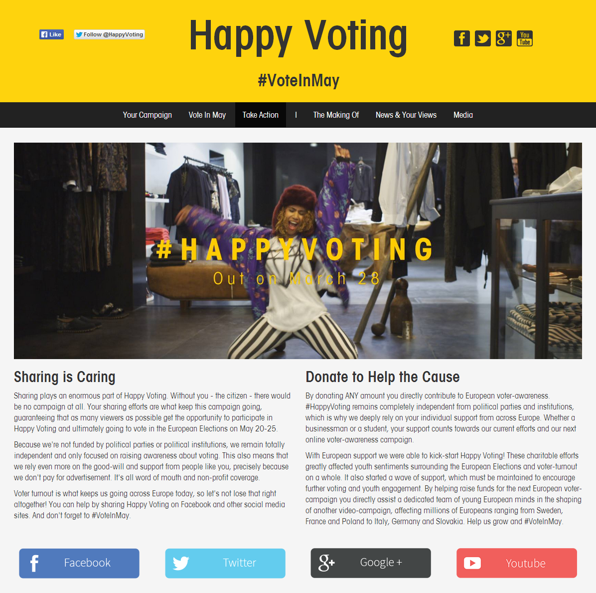 Happy Voting Home Page